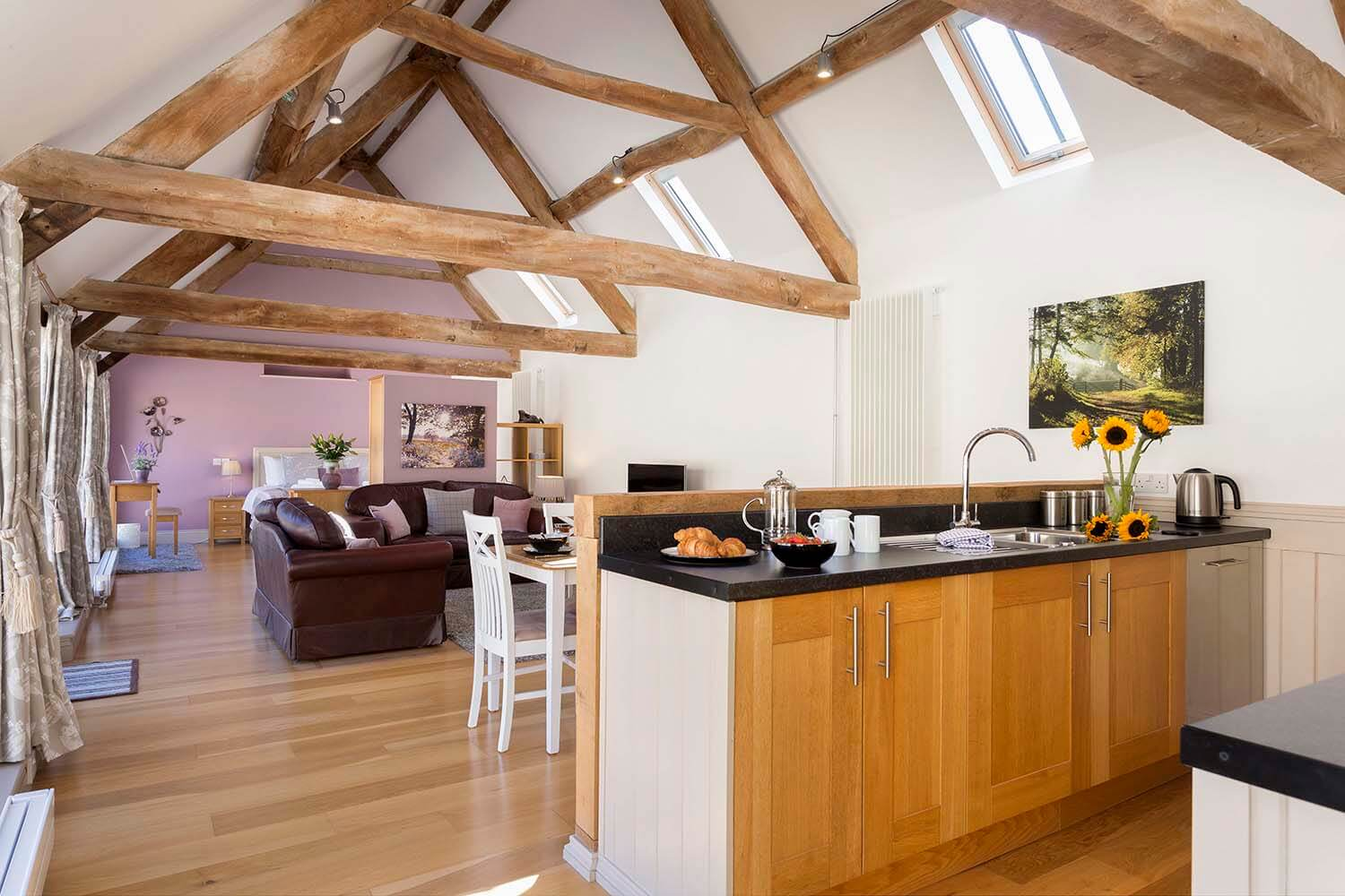 The Car Hotel's holiday lettings kitchen view