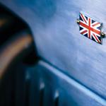 Union Jack on vintage car